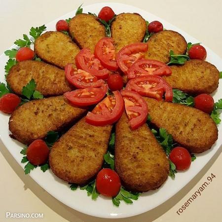 آموزش پخت کتلت مرغ , طرز تهیه کتلت مرغ , طرز پخت کتلت مرغ